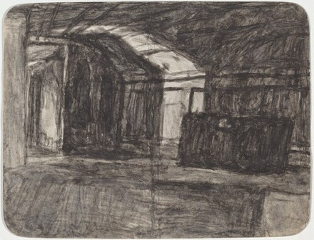 Untitled (Interior with Shaft of Light) [recto]