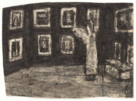 Untitled (Interior with Pictures) [recto]