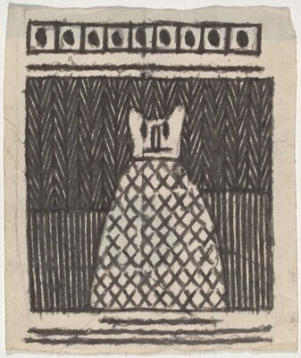 Untitled (Patterned Figure with Animal Face)