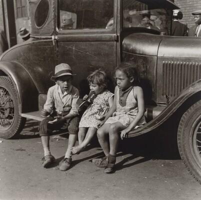 Children on Ford