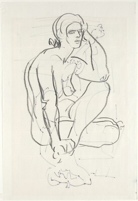 Seated  Woman (verso)