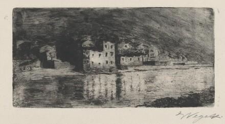 Pescarenico Seen across the River Adda