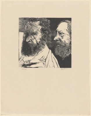 J.F. Millet and Th. Rousseau, from Self-Portraits