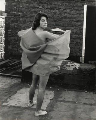 Untitled (Romero Cavalcanti wearing Parangolé Cape 25, New York City, 1972)