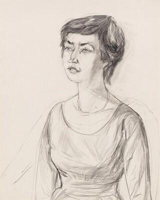 Untitled (Portrait of the art historian Dr. Annaliese Mayer-Meintschel)