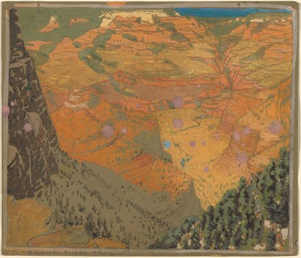 Preparatory Study for Bright Angel Trail