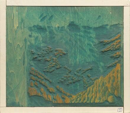 Bright Angel Trail [woodblock no. 5]