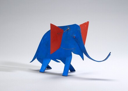 Blue Elephant with Red Ears