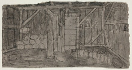 Untitled (Shed Interior) [verso]