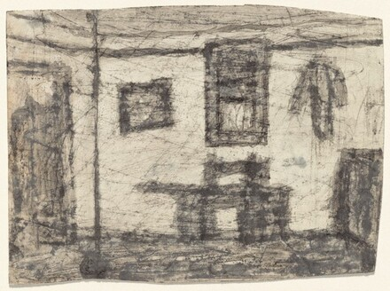 Untitled (Interior with Pictures) [verso]