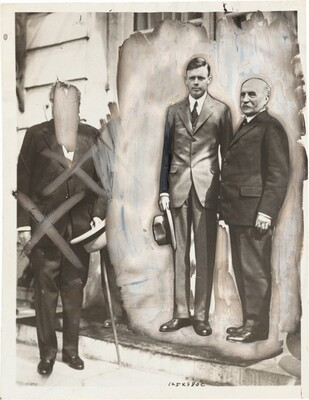 Charles Lindbergh and Marshal Foch