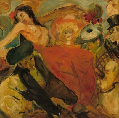 Dancer in a Red Skirt (Fiesta) (Bleecker Street Tavern Mural)
