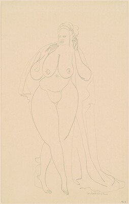 Nude with Drapery (No. 9)