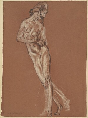 Standing Female Nude (study for Stars and Dews and Dreams of Night)