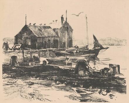 Boats Docked at Harbor
