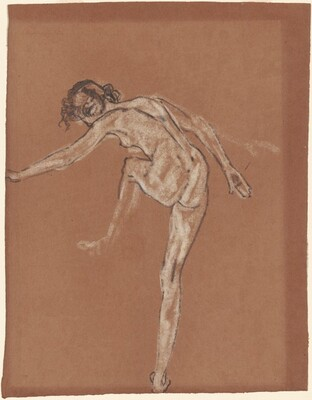 Standing Female Nude with Knee Raised