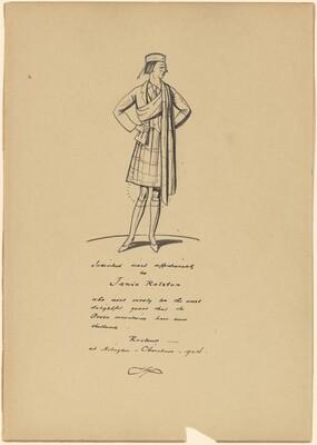 Standing Girl in a Kilt