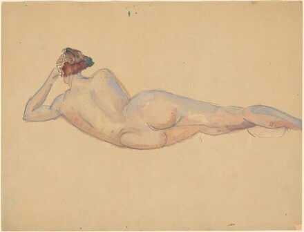 Reclining Female Nude from Rear