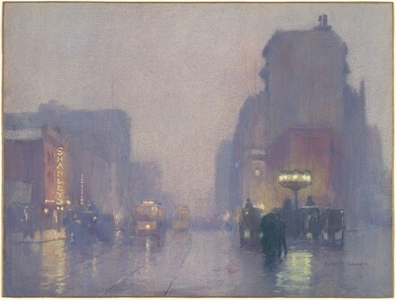 Broadway on a Rainy Evening