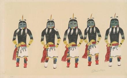 Five Masked Native American Dancers
