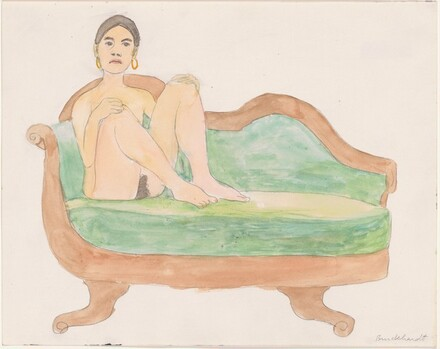 Female Nude on Empire Sofa