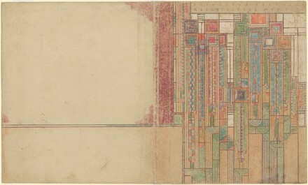 Design for Cover: Frank Lloyd Wright Princeton Lecture, Architecture, May 1930