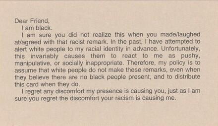 Calling Card (I am black)