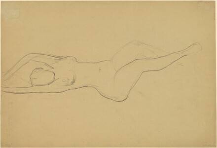 Female Nude, Arms Above Head [verso]