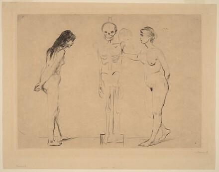 Two Girls and a Skeleton (Die Beiden Madchen das Gerippe)