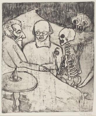 Sick Man, Doctor, Death, and Devil (Kranker, Arzt, Tod und Teufel)
