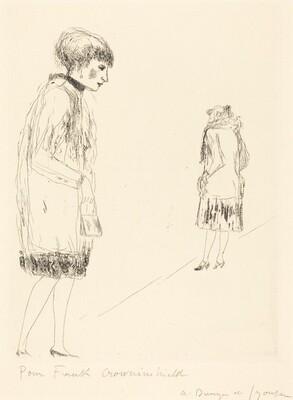 Prostitutes on the Sidewalk, Boulevard Sebastopol (Filles publiques sur le trottoir,