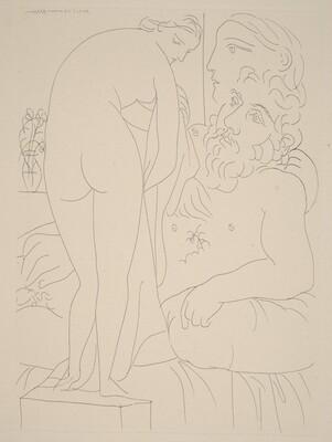 Sculptor Reclining with Marie-Thérèse and Her Representation as a Chaste Venus (Sculpteur au repos avec Marie-Thérèse et sa représentation en Vénus pudique)