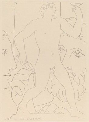 Marie-Thérèse, the Sculptor at Work, and a Sculpture Representing a Greek Athlete (Marie-Thérèse, sculpteur au travail et sculpture représentant un athlète grec