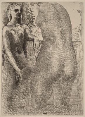 Marie-Thérèse Looking at Her Sculpted Body (Marie-Thérèse regardant son corps sculpté)