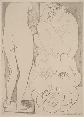 Anxious and Introspective Woman in the Sculptor's Studio (Femme songeuse et inquiete dans l'atelier de sculpteur)