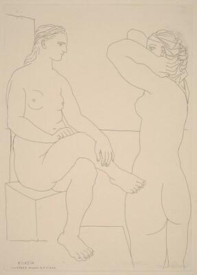 Two Women at the Bath (Deux femmes au bain)