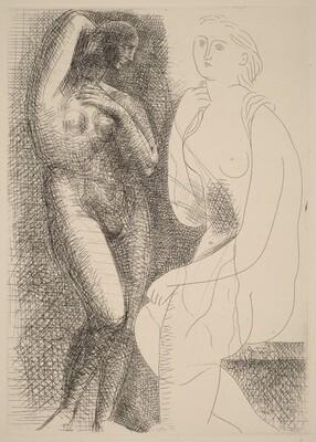 Nude before a Statue (Femme nue devant une statue)