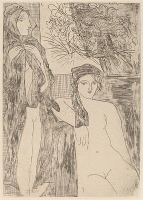Rembrandt and Two Women (Rembrandt et deux femmes)