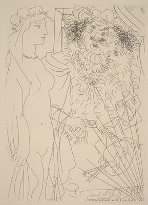 Rembrandt Takes a Young Veiled Woman by the Hand (Rembrandt tenant par la main un jeune femme au voile)
