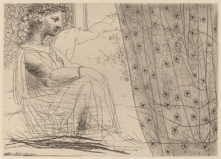 Marie-Thérèse, as a Vestal Virgin, Watching the Sleeping Minotaur (Marie-Thérèse, en vestale, veillant le mintaoure endormi)
