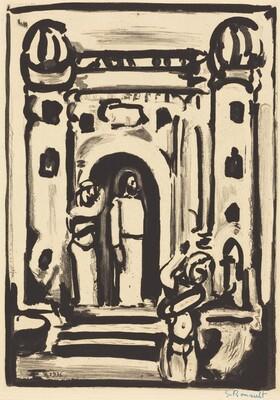 Christ aux Portes de la Ville (Frontispiece)