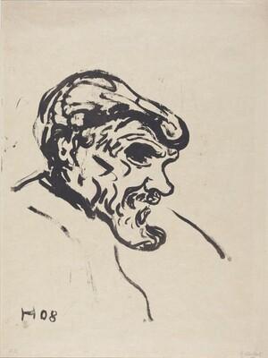 Head of a Man (Bartiger Mann)