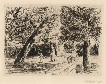 Woman and Child in Garden