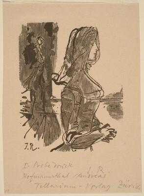 Illustration to V. Hofmannsthal, Andreas