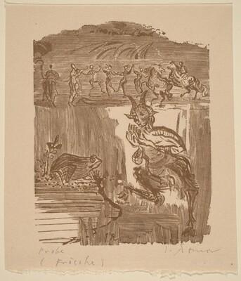 Illustration to Aristophanes, Die Frosche