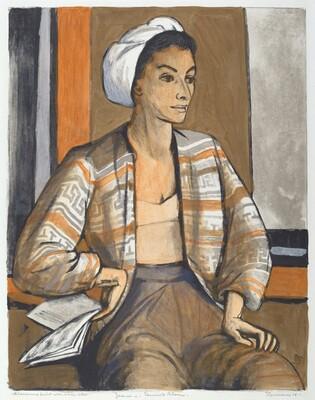 Jeanne in a Seminole Blouse