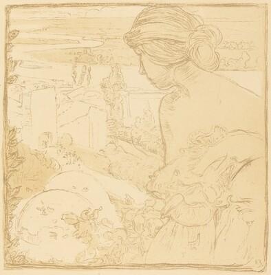 Woman's Figure in Landscape