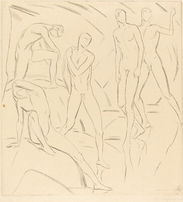 Composition with Five Nude Figures