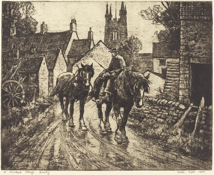A Moorland Village, Evening