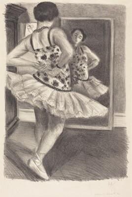 Dancer Reflected in the Mirror (Danseuse reflétée dans la glace)